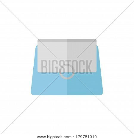 Bag isolated icon on white background. Women bag. Flat vector illustration design.
