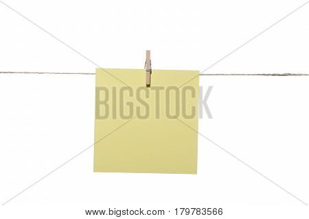 One note or posit hanging wooden pegs