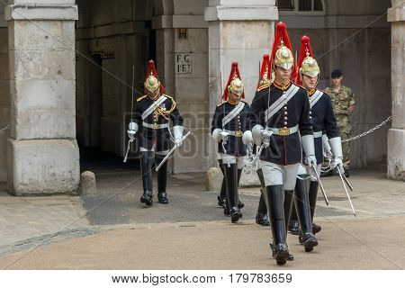 LONDON, ENGLAND - JUNE 16 2016: Horse Guards Parade, City of London, England, Great Britain