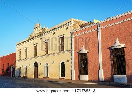Colorful Architecture In Valladolid, Mexico