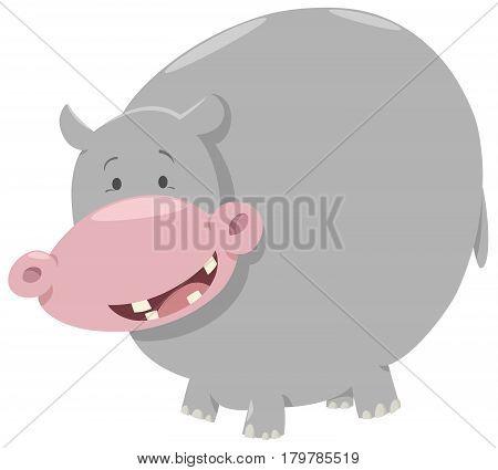 Hippo Cartoon Animal Character