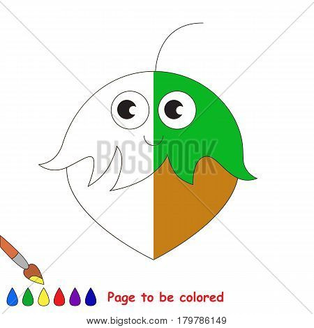 Hazelnut, the coloring book to educate preschool kids with easy gaming level, the kid educational game to color the colorless half by sample.