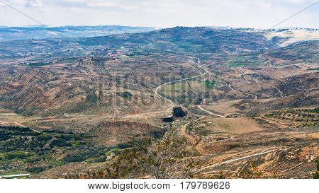 Above View Of Rural Landscape Of Promised Land