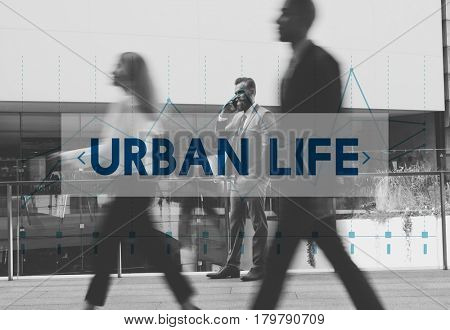 City Life Urban Scene Rush Hour Fast Paced Lifestyle