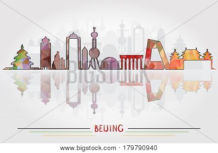 Beijing City Silhouette With City Silhouette Design