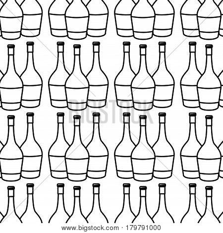 figure wine bottles taste beverage background, vector illustration design