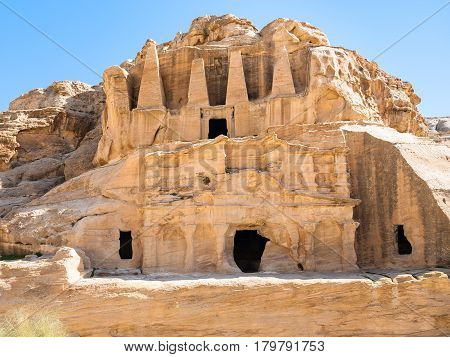 The Obelisk Tomb And Triclinium In Petra