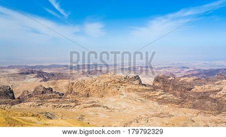 Sedimentary Rocks Around Wadi Araba Area
