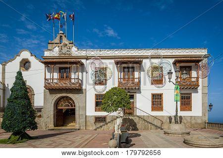 Icod de los Vinos old town sightseeing, Tenerife island, Spain.