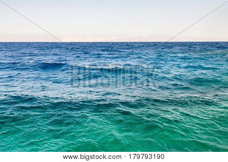 Water Surface Of Gulf Of Aqaba On Red Sea