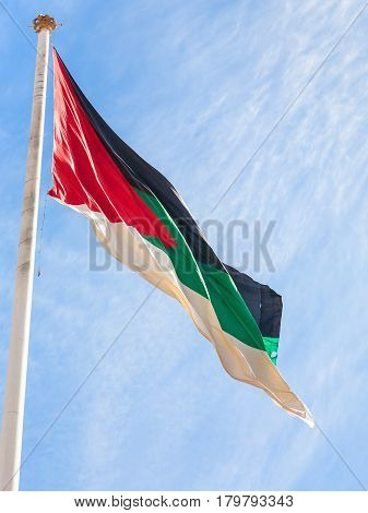 Flag Of The Arab Revolt Outdoors In Aqaba City