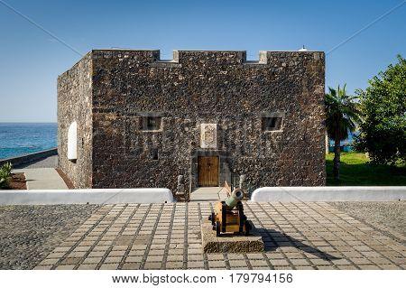 Castillo San Felipe - small medieval fortress in Puerto de la Cruz. Tenerife island, Spain.