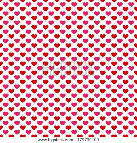 Seamless pattern with hearts.Happy Valentine's Day. Vector illustration.