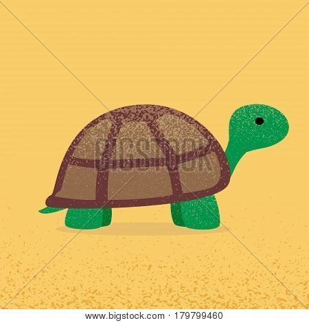 Turtle top view. Tortoize flat. Vector illustration