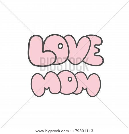 Mothers day cards vintage retro type font. Vector illustration.