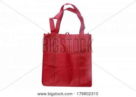 reusable shopping bags isolated on white with room for your text