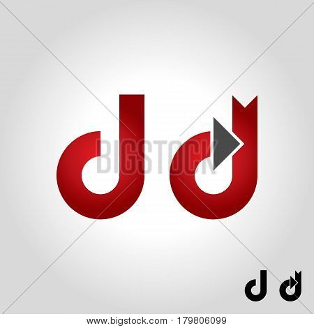 letter d logo icon and shape vector illustration