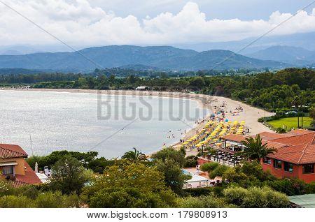 Coast of Sardinia San Gemiliano Beach Vacation in Italy Sardegna