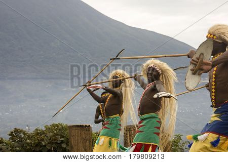 Dancers In Rwanda Native Dance Troop, Virunga, Africa