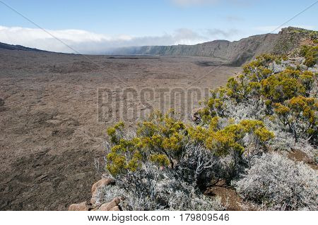 Piton De La Fournaise Volcano On La Reunion Island