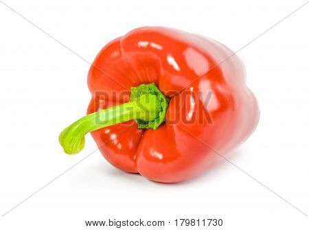 Juicy sweet pepper isolated on a white cutout