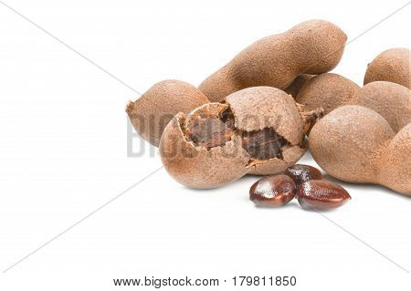 Tamarinde isolated on a white background with clipping path