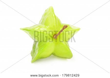 Star fruit isolated on a white background