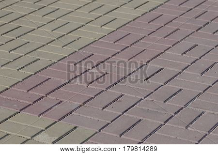 The paving slab on city street. Abstract background.