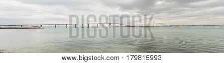 Cadiz new bridge panoramic view called Pepa or the 1812 Constitution Andalucia Spain