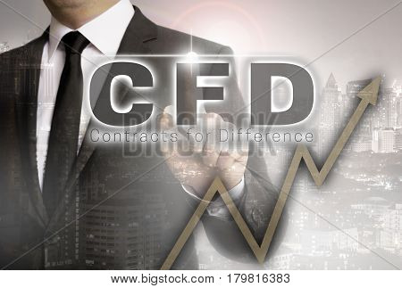CFD is shown by businessman concept picture