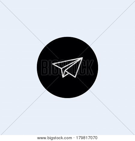 send icon mobile phone communication paper plane email web message sending