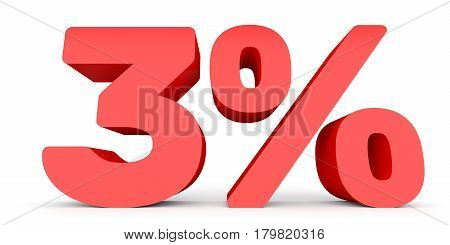 Three Percent Off. Discount 3 %.