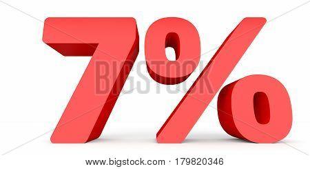 Seven Percent Off. Discount 7 %.