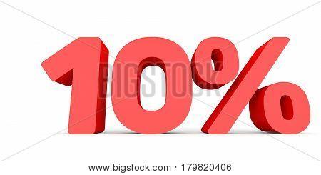 Ten Percent Off. Discount 10 %.
