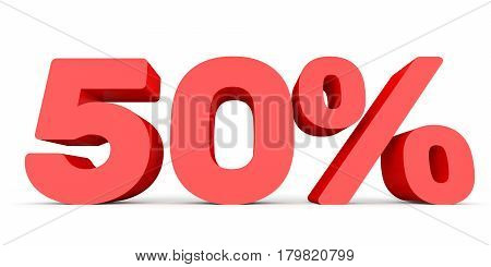 Fifty Percent Off. Discount 50 %.