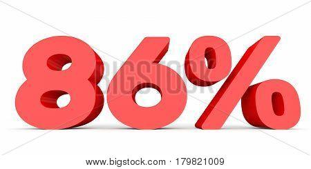 Eighty Six Percent Off. Discount 86 %.