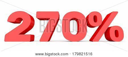 Two Hundred And Seventy Percent. 270 %. 3D Illustration.