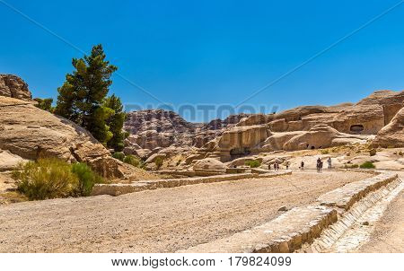 The road to the Siq at Petra - Jordan