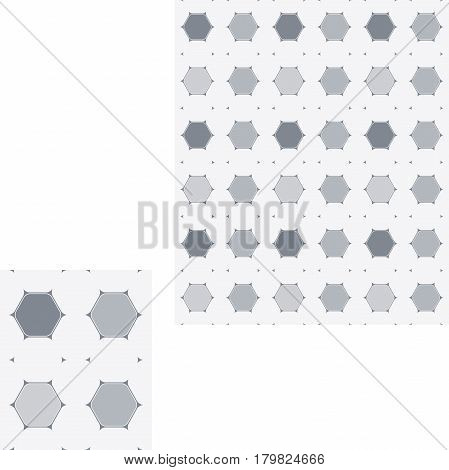 Abstract seamless hexagon geometric pattern of different opacity.