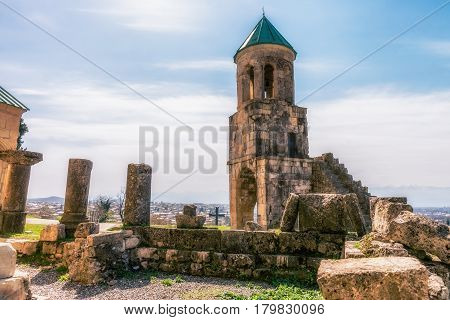 Georgia, Tbilisi - April 01, 2017: Bagrati Cathedral or The Cathedral of the Dormition is an 11th century cathedral in Kutaisi, Georgia.