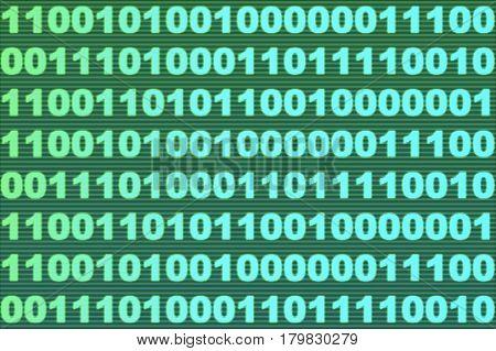 A binary code machine language background (3d rendering)