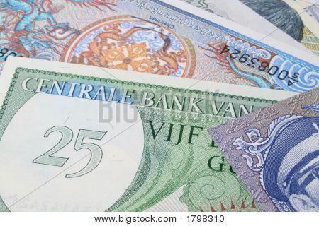 Group Of Money Closeup