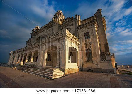 Old casino in Constanta, Romania, on the Black Sea coast was build in 1910, photo taken in November 2016