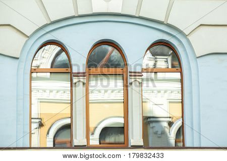 Vintage building with arched windows