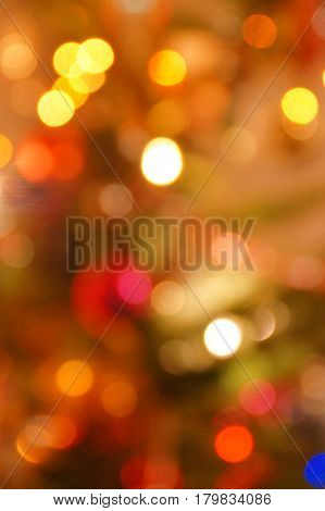 Abstract background with blurred colored lights bokeh