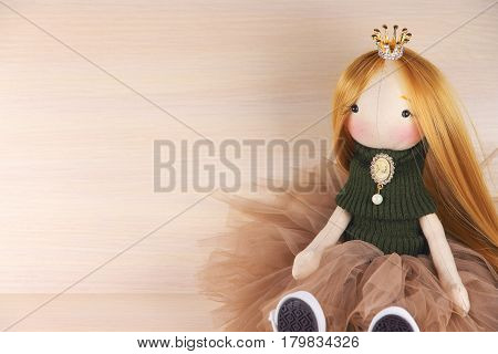 The doll is a fashionista. A toy for a little princess.
