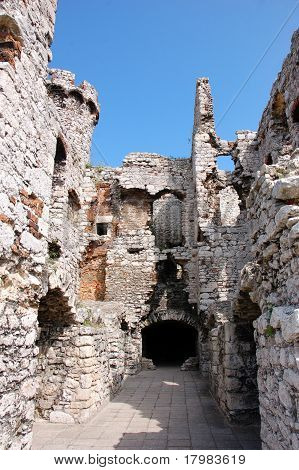 The ruins of a fortified castle 2