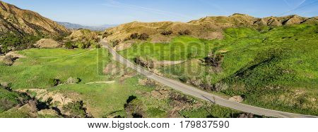 Road In California Hills