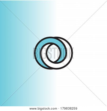 Impossible circle vector logo in flat style.