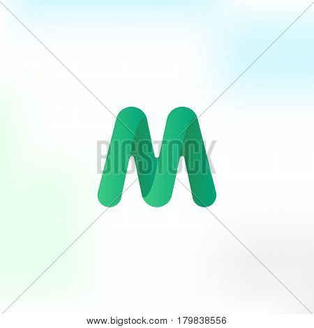 The letter M . Simple vector logo in a modern style.